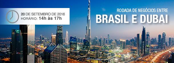 Banner com imagem da cidade de Dubai